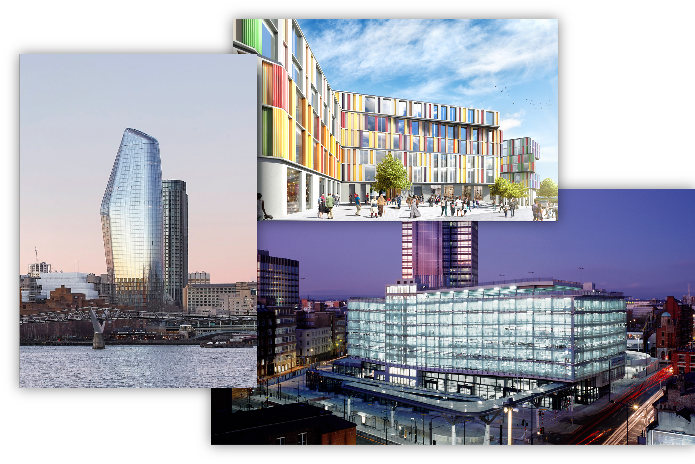 three buildings designed by Simpson Haugh Architects