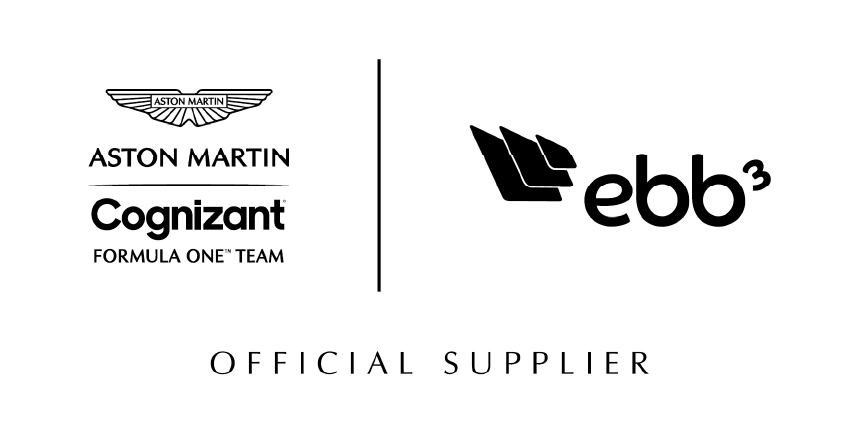 aston martin cognizant formula one logo and ebb3 logo