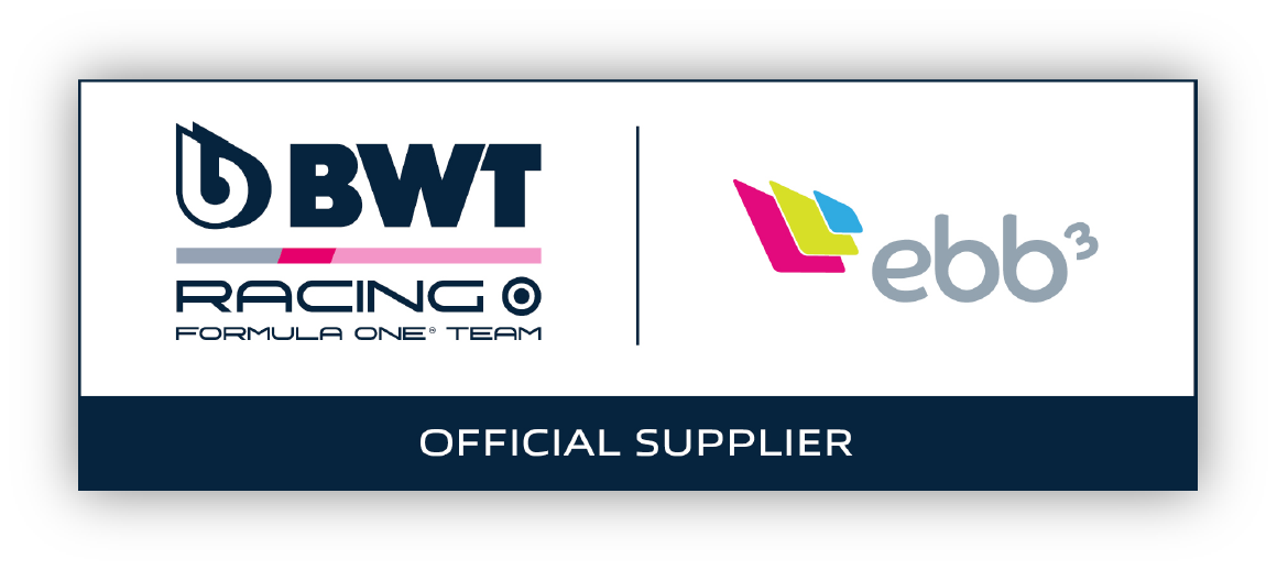 ebb3 is the official supplier of BWT racing formula one team
