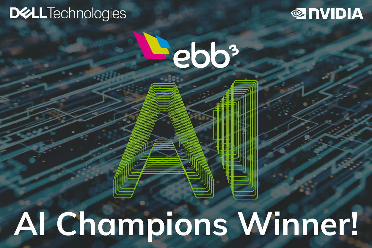 ebb3 are winners of the Dell AI champions award