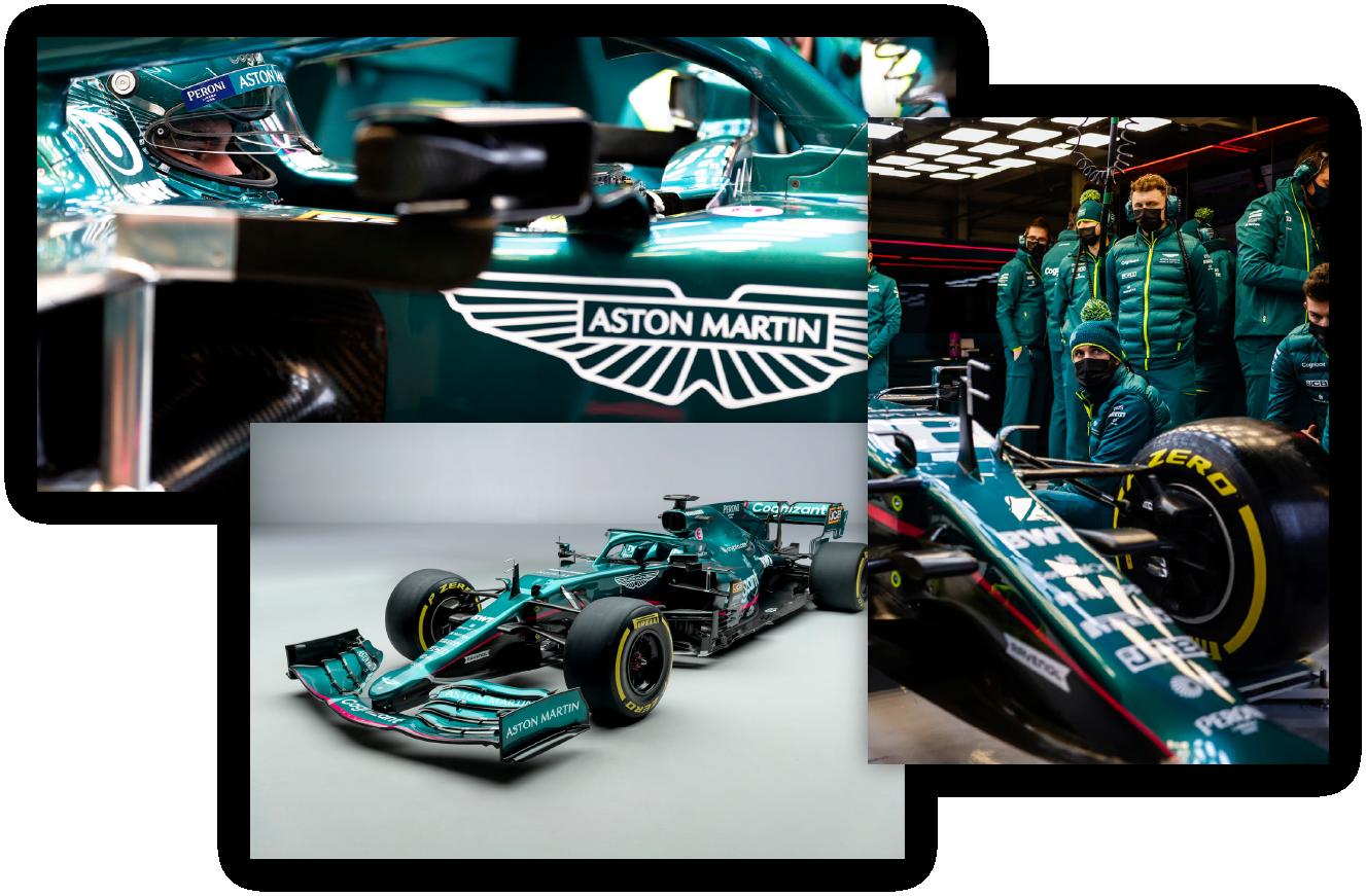 aston martin formula 1 car